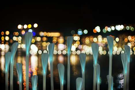 The Pensa 'Light Reeds' Bring Life to the Concrete City