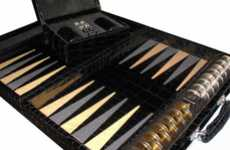 $387,890 Backgammon Sets - The Geoffrey Parker Alligator/Stingray Backgammon Board is Ritzy