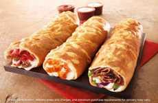 Pie Hot Pockets - The New Pizza Hut P'Zolo Comes in Three Jam-Packed Flavors