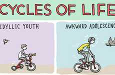Whimsical Life Stage Depictions - The 'Cycles of Life' Comic is Clever and Cheeky
