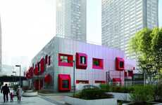 Red-Accented Schools - The Ecole Maternelle is Playful and Eco-Friendly