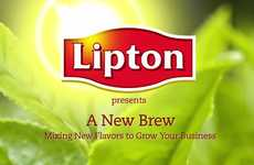 Chilled Tea Cocktail Clips - Lipton Fresh Brew Ice Teas Mix Up the Summer Drink Lineup
