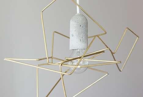 Metallic Tangle Lamps