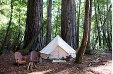 Pop-Up Camping Companies - Shelter Co Traveling Resorts Takes the Work Out of Pitching a Tent