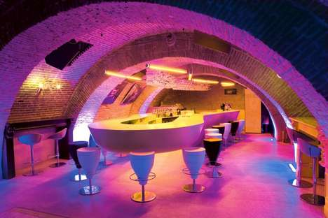 Contemporary Byzantine Clubs - The Evolution Bar in Bucharest, Romania Features Floating Tables
