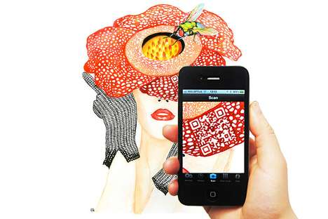 Digital Barcode Art Illustrations