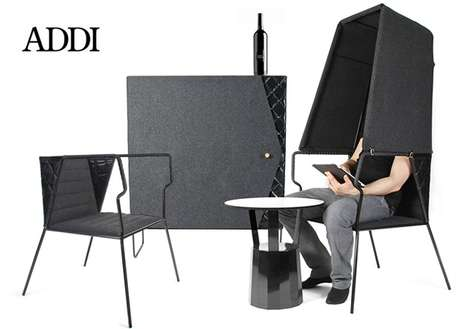 Socially Isolated Seating - The Booth Lounge Chair by Addi Keour is Introverted