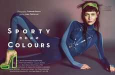 Futuristic Snow Bunny Fashion - The Vision China 'Sporty Colours' Editorial is Wintry Luxe