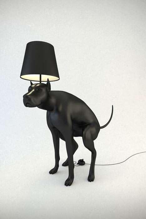 Misbehaving Dog Lamps