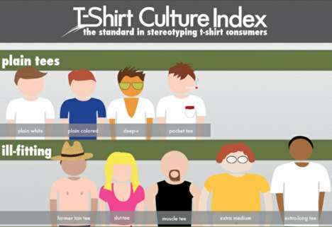 T-Shirt Stereotype Charts