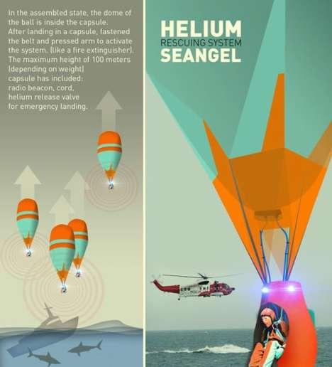 Inflatable Escape Pods