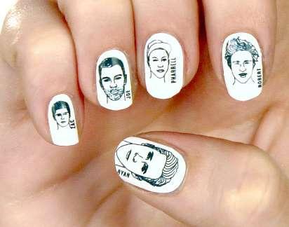 Hunky Celeb Nail Stickers