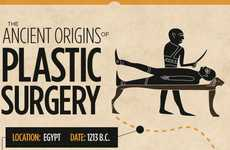 Form Manipulation Charts - The 'Ancient Origins of Plastic Surgery' Infographic is Historic