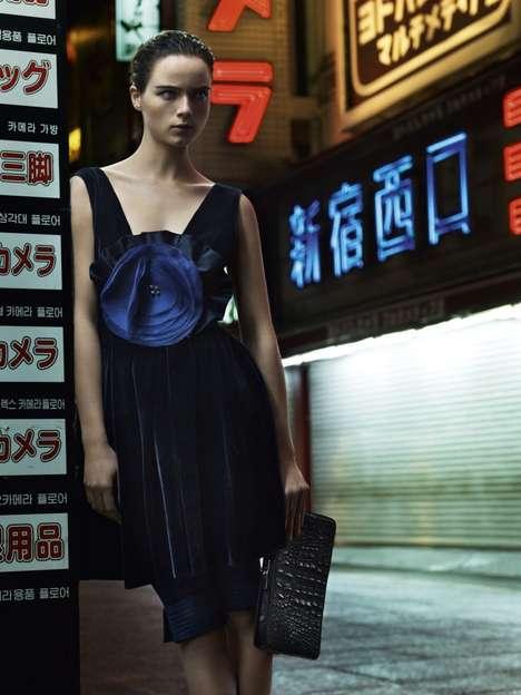 Exotic Futuristic Fashion Ads
