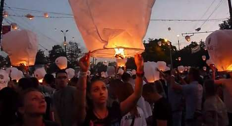 The 12,740 Lantern Release in Romania Lights up the Sky