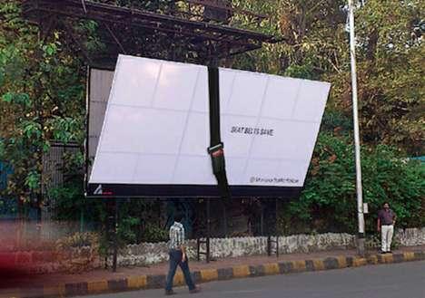 Seat Belt-Strapped Billboards