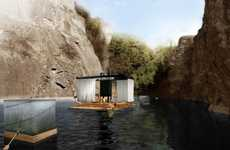 Luxe Waterborne Spas - The One Box Floating Sauna by Jose Freitas is in Touch with Nature