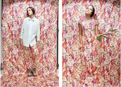 Extreme Floral Editorials - The Nikicio 'Run into the Flowers' Collection is Blooming with Bouquets