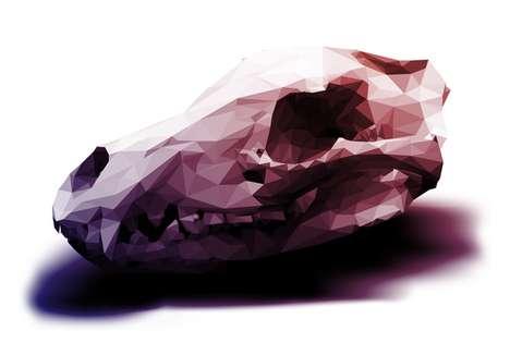 Purple-Hued Polygonal Skulls