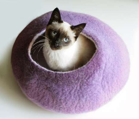 The Vaivanat Bed Collection Provides Chic Comfort for Your Feline
