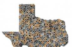 Shotgun Shell State Art - The Dolan Geiman Map of Texas is Fired Up