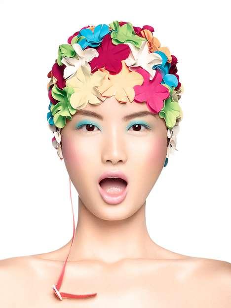 Chic Floral Swim Caps
