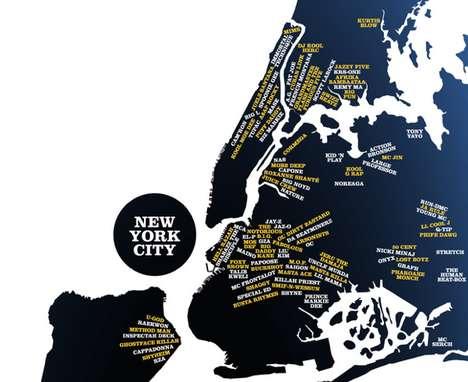 Hip Hop Hometown Maps
