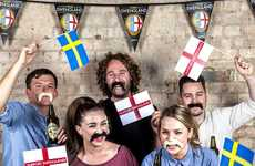 Soccer Fan Facial Hair - Kopparberg's 'Swengland' Campaign Gives Away Faux Moustaches