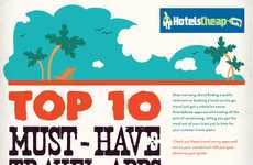 Smartphone Vacation Suggestions - The '10 Must Have Travel Apps' Infographic is a Huge Help