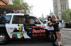 Bear-Patterned Olympic Taxis - The Chengdu 'Panda Cabs' Are a Hit with London Locals