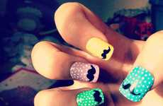 Dapper Digit Tippers - The SophisticatedSilly Moustache Nails are Adorably Quirky