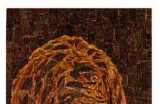 Beef Jerky Sasquatch Mosaics - Jason Mecier Uses Jack Link's Meat Products to Create Amazing Art