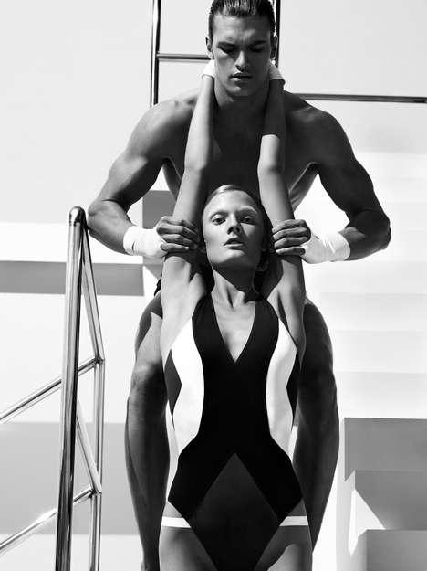 Striking Swimmer Portraits