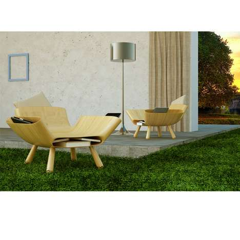 Space Age Rustic Seating