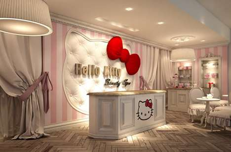 Cat-Centered Primping Parlors - Hello Kitty Beauty Spa in Dubai Bathes Visitors in Pink
