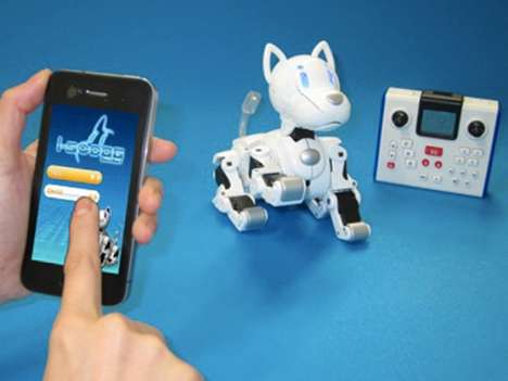 Smartphone-Controlled Fake Pets - The OMNIBOT i-SODOG Lets You Raise a Dog via Your iPhone