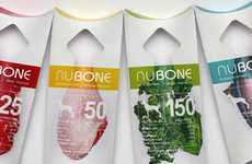 Nutritional Dog Treat Branding - NuBone Packaging Creates a Visual Link Between Bone and Ingredients