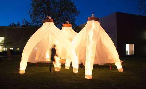 Inflatable Illuminated Pavilions
