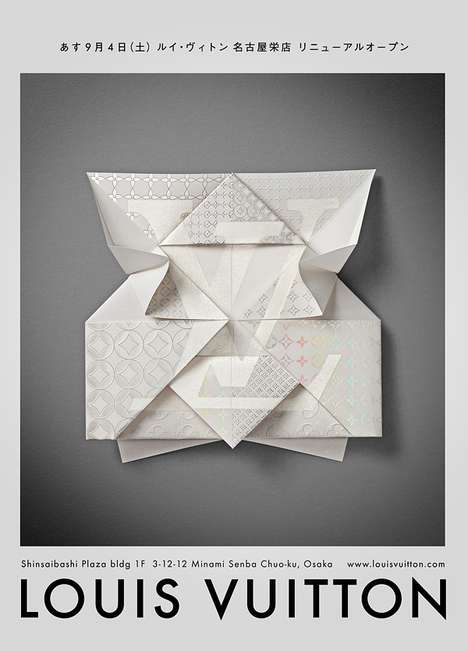 Designer Origami Cards - People Will Bend Over Backwards for a Louis Vuitton Invitation