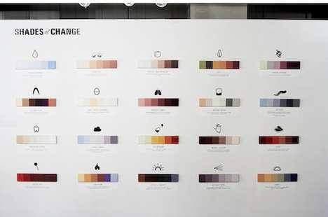 Minimalistic Color Spectrum Charts