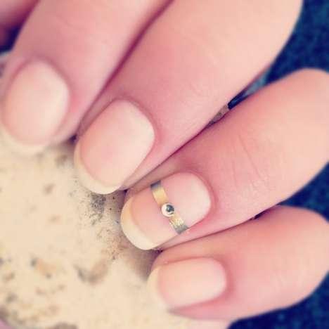 Ring-Bearing Nuptial Nails