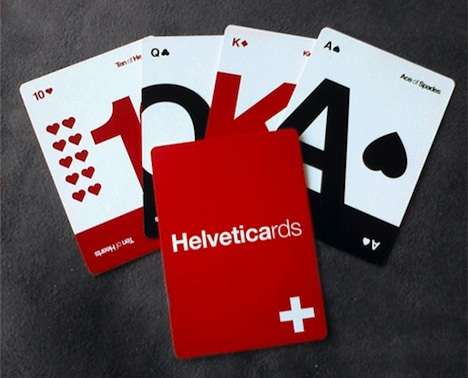 Typography Playing Cards - Helveticards by Ryan Myers Are the It Cards for Designers