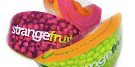 Vibrant Slice Branding - Strange Fruit Packaging Serves a Taste of Exotic with a Stimulating Look