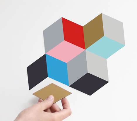 Geometric Fridge Adornments