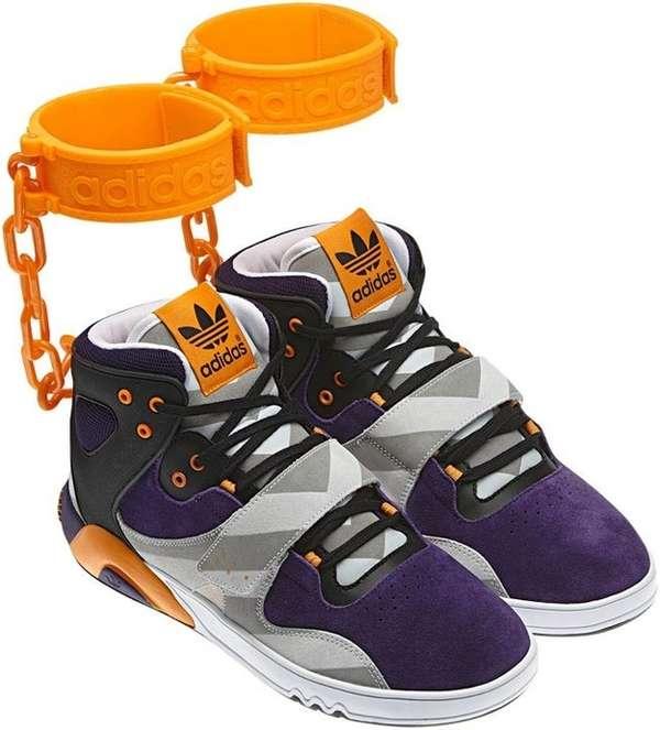 buy popular 3f72d 15c90 Controversial Shackle Kicks : jeremy scott x adidas handcuffs
