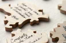 Intricate Nuptial Keepsakes - The 'Wedding Puzzle Guest Book' is a Sweet Memory Keeper