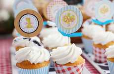 Printable Delectable Decorations - The 'Barnyard Cupcake Toppers' are a Convenient Design