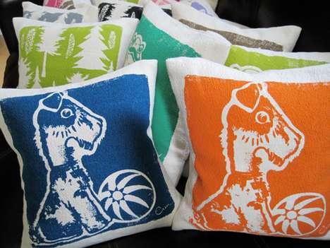 Silkscreen Canine Cushions