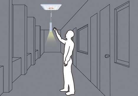 Disaster-Diverting Ceiling Lights
