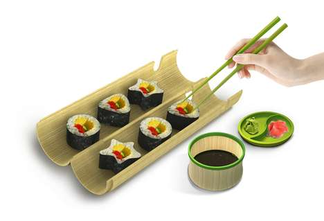 Lunchbox Maki Makers - The Wakasu Portable Sushi Maker Molds Homemade Meals into Fun
